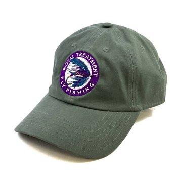 RTFF Logo Oil Cloth Cap, Loden