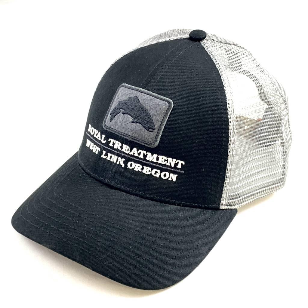 RTFF Logo Trout Icon Trucker, Black