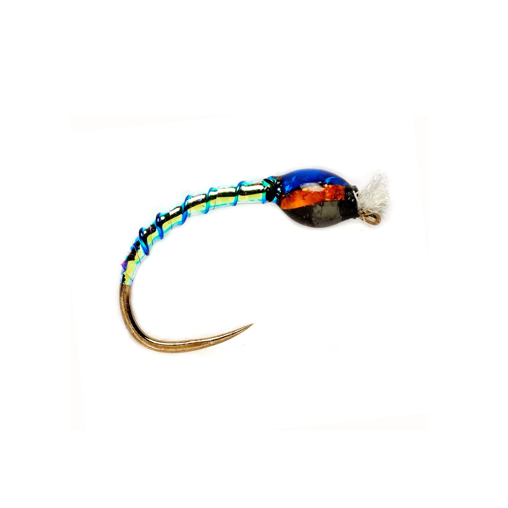 O.S. Buzzer Opal/Red Bead Head