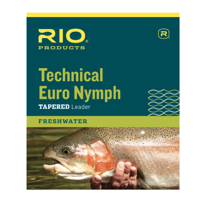 RIO Technical Euro Nymph Leader Black and White