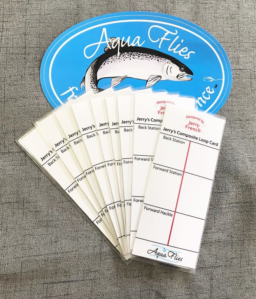 Aqua Flies Jerry French Composite Loop Card