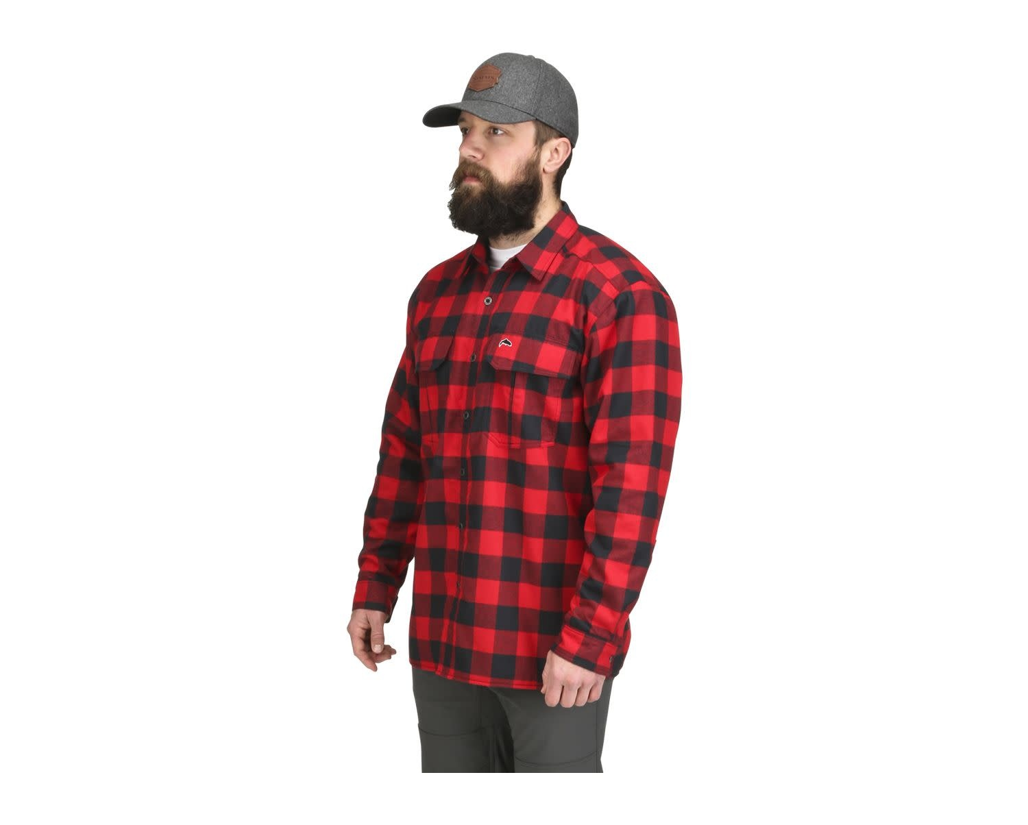Simms Coldweather Shirt Red Buffalo