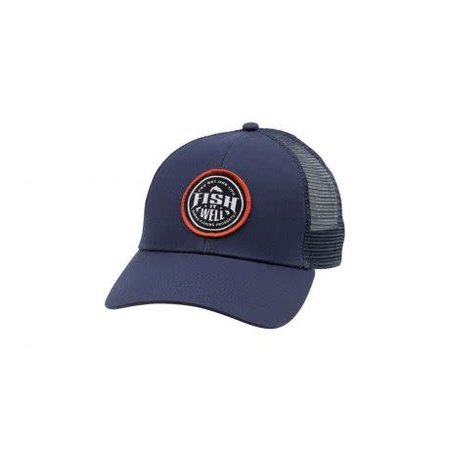 Simms Fish It Well Trucker Hat, Dark Moon