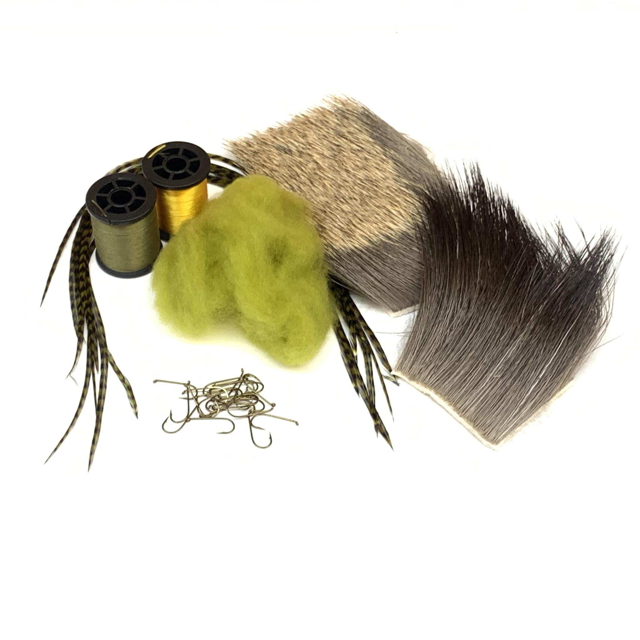 Hairwing Dun Green Drake Tying Kit