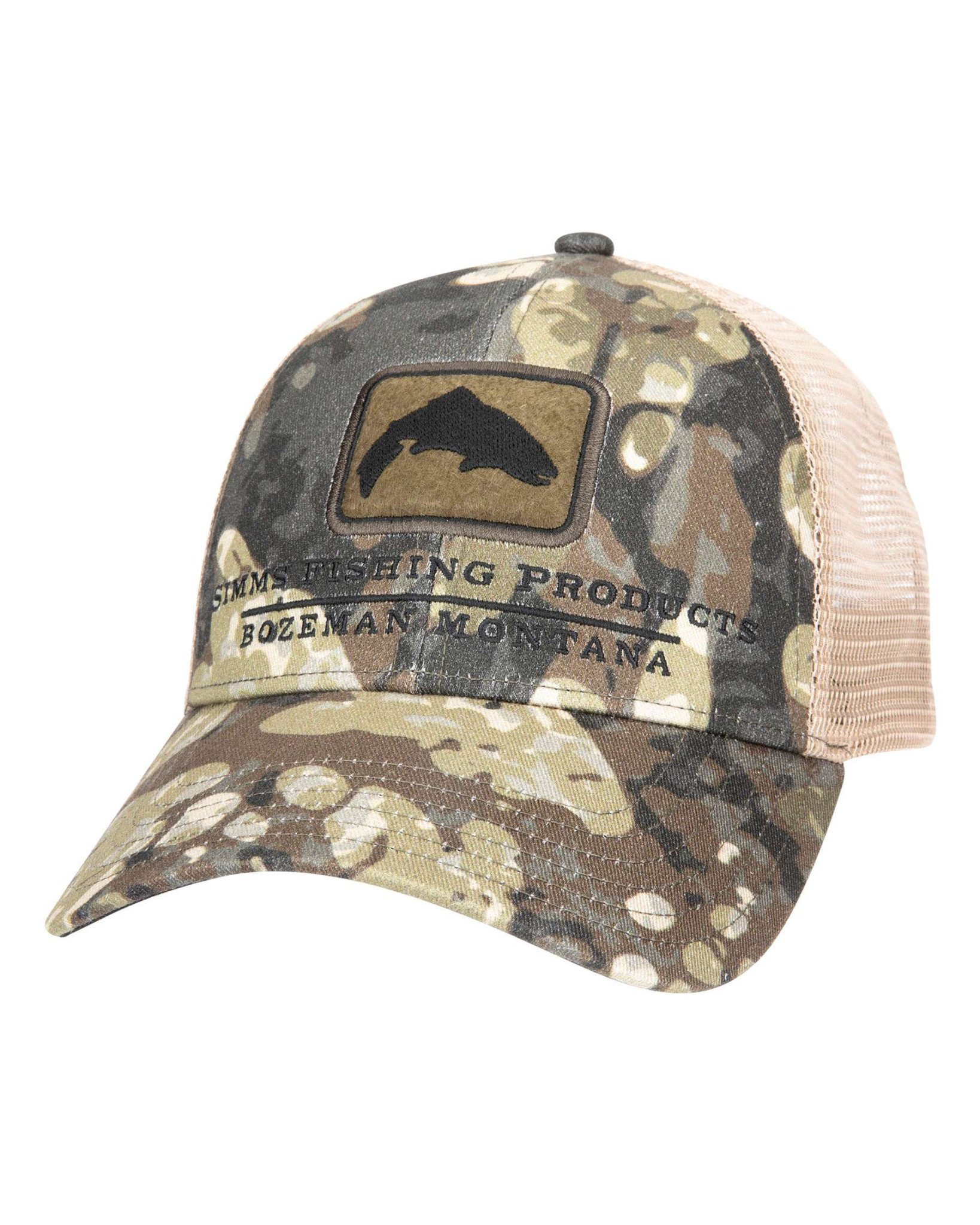Simms Trout Icon Trucker, Riparian Camo
