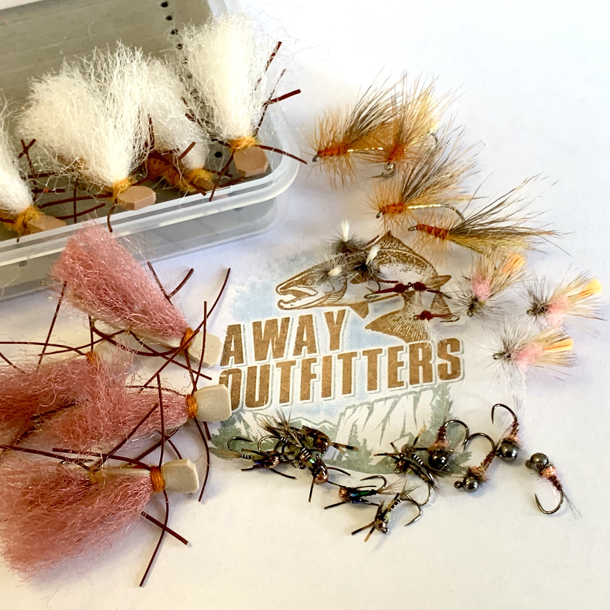 Gil's Away Outfitters Trout Fly Selection 1