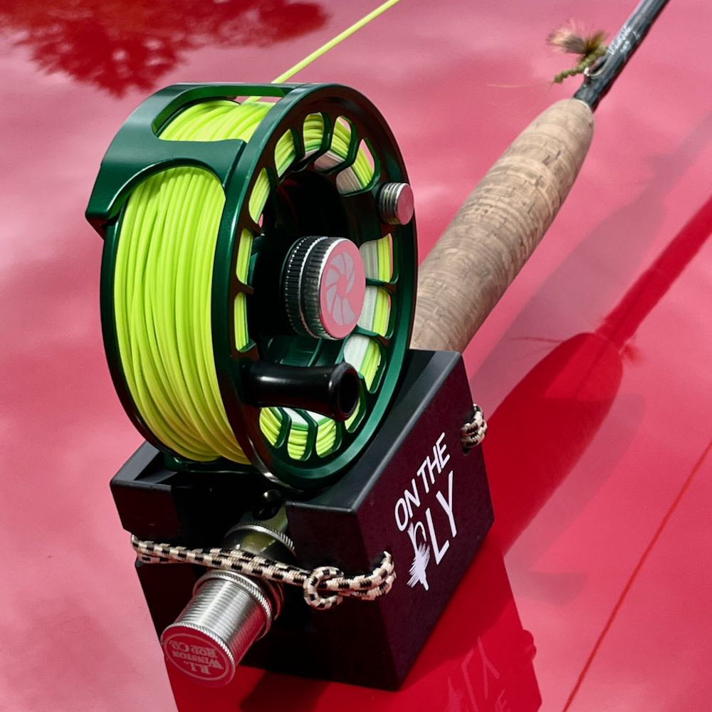 ON THE FLY  Fly Rod Holder