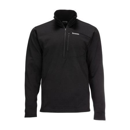 Simms Men's Thermal 1/4 Zip Top Black