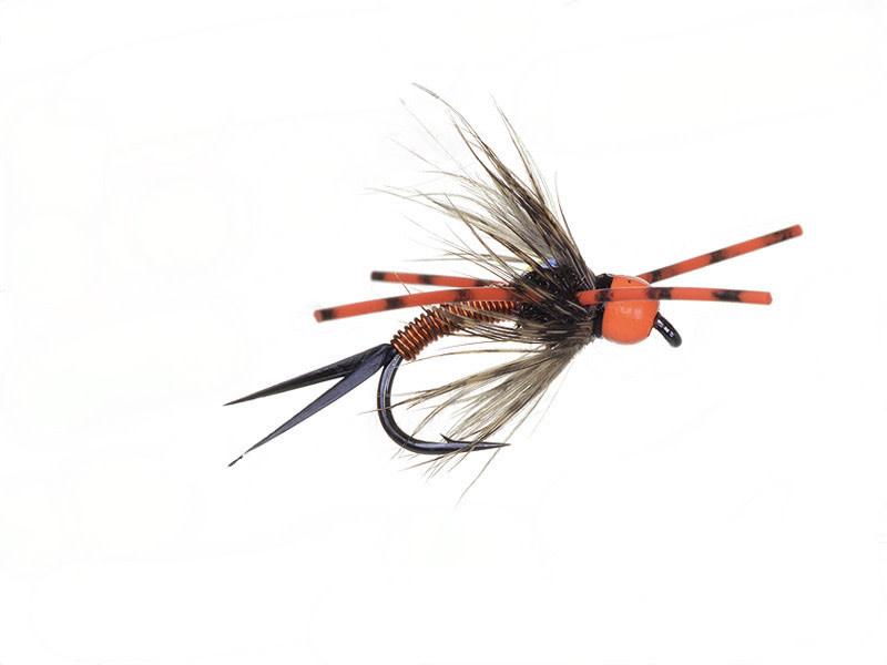 Bead Head Vitamin D Orange Rubber Leg Sz 6