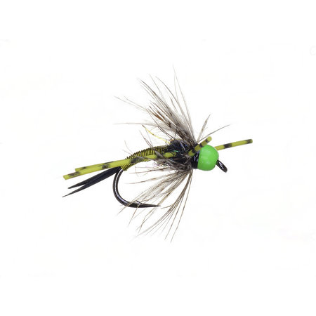 Bead Head Vitamin D Chartreuse Rubber Leg Sz 6
