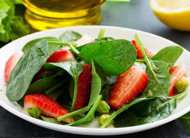 Strawberry Basil Spinach Salad