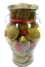 Olives Red Chili and Garlic Stuffed Gordal Olives  20 oz