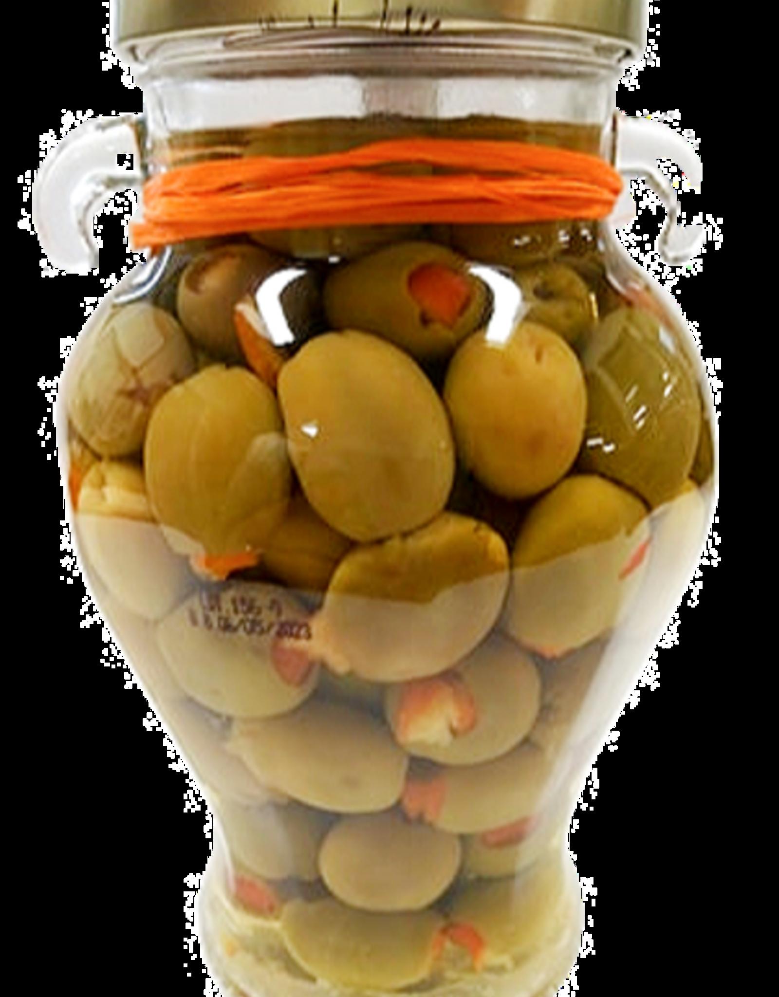Olives Orange Stuffed Manzanilla Olives  20 oz