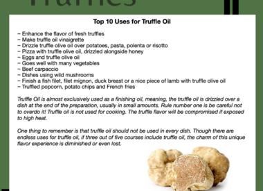 Truffle Oil Uses