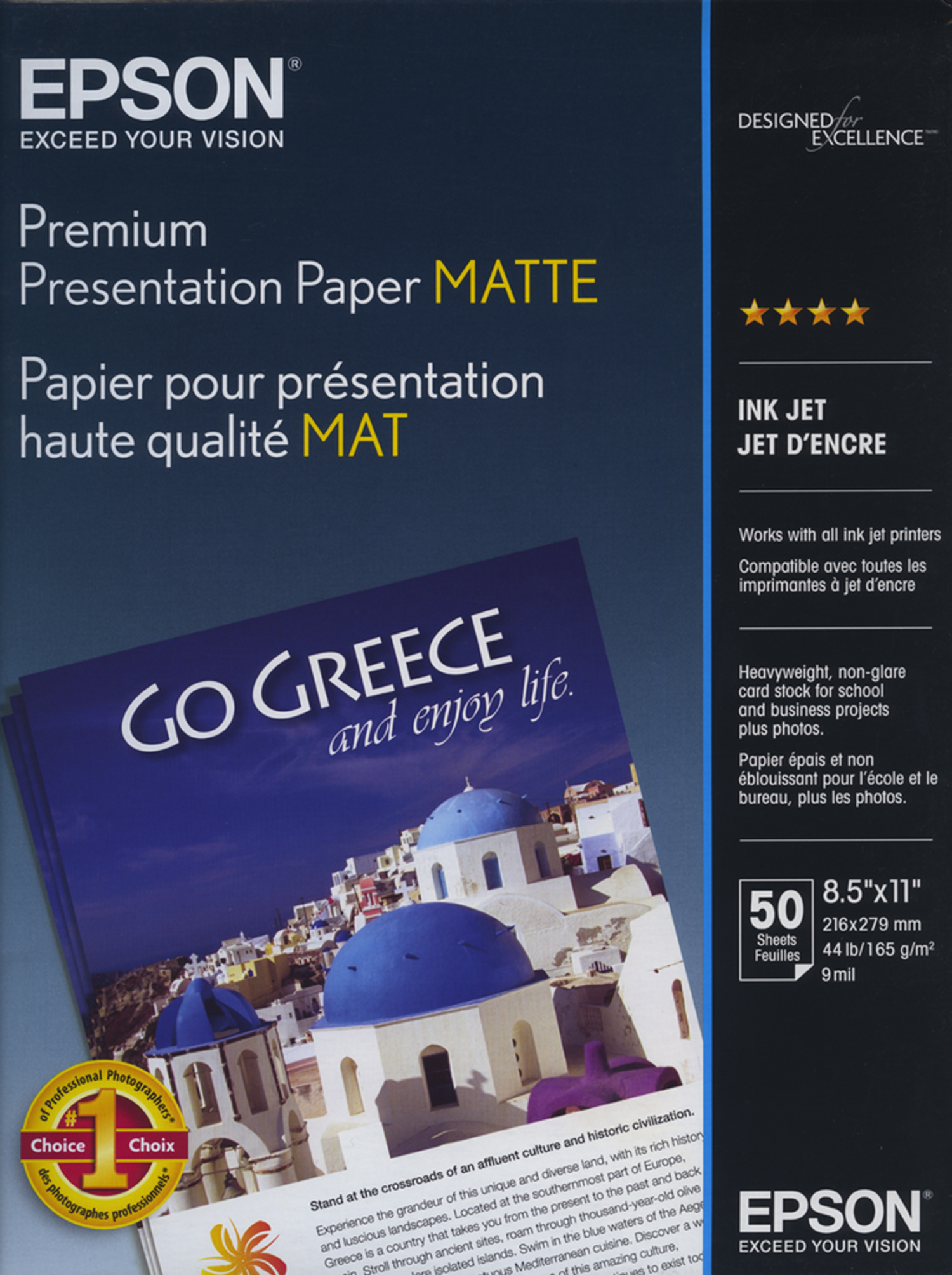 Epson Premium Presentation Paper Matte - 8 5x11 - 50 Sheets