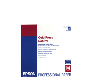Epson Cold Press Natural Photo Paper - 8 5x11 - 25 Sheets