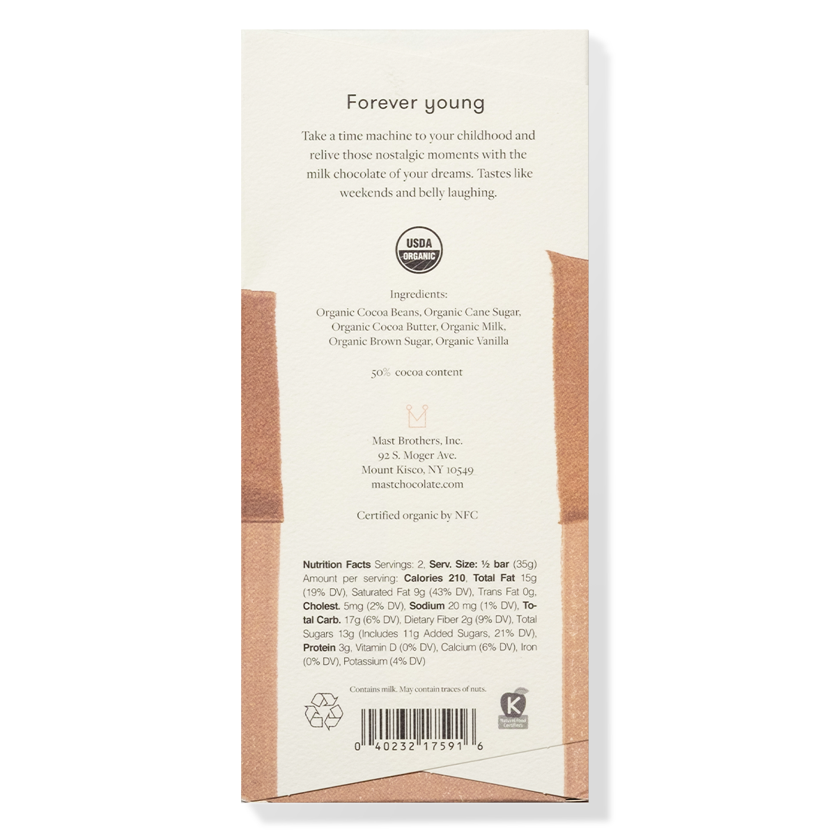Mast Organic Milk Chocolate Bar