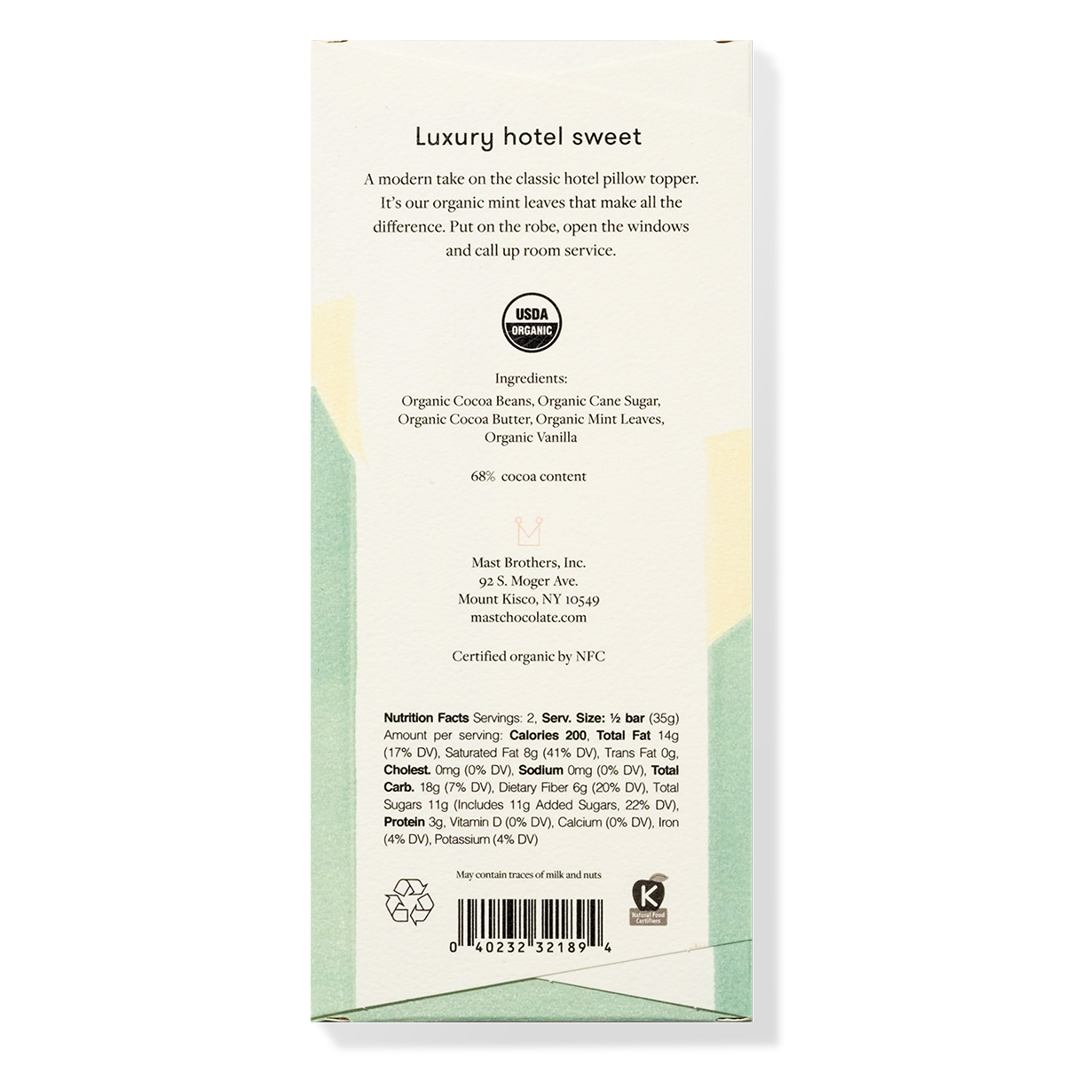 Mast Organic Mint Chocolate Bar