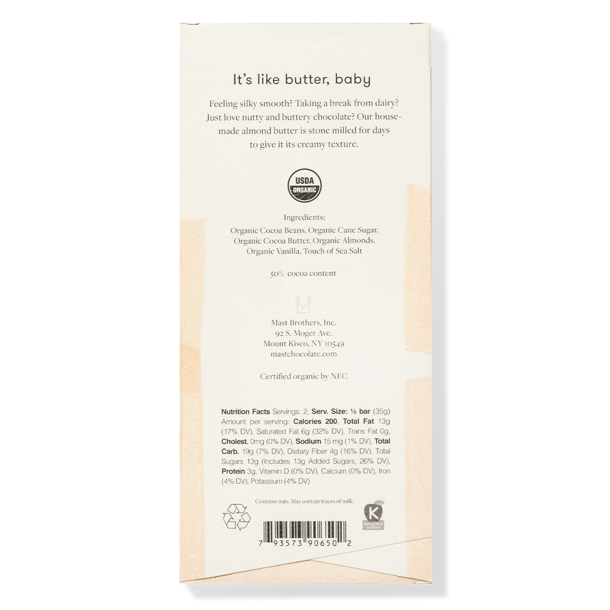 Mast Organic Almond Butter Chocolate Bar