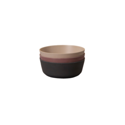 Cink Bamboo Bowls 3-pk Bowls - Ocean/Beet/Fog