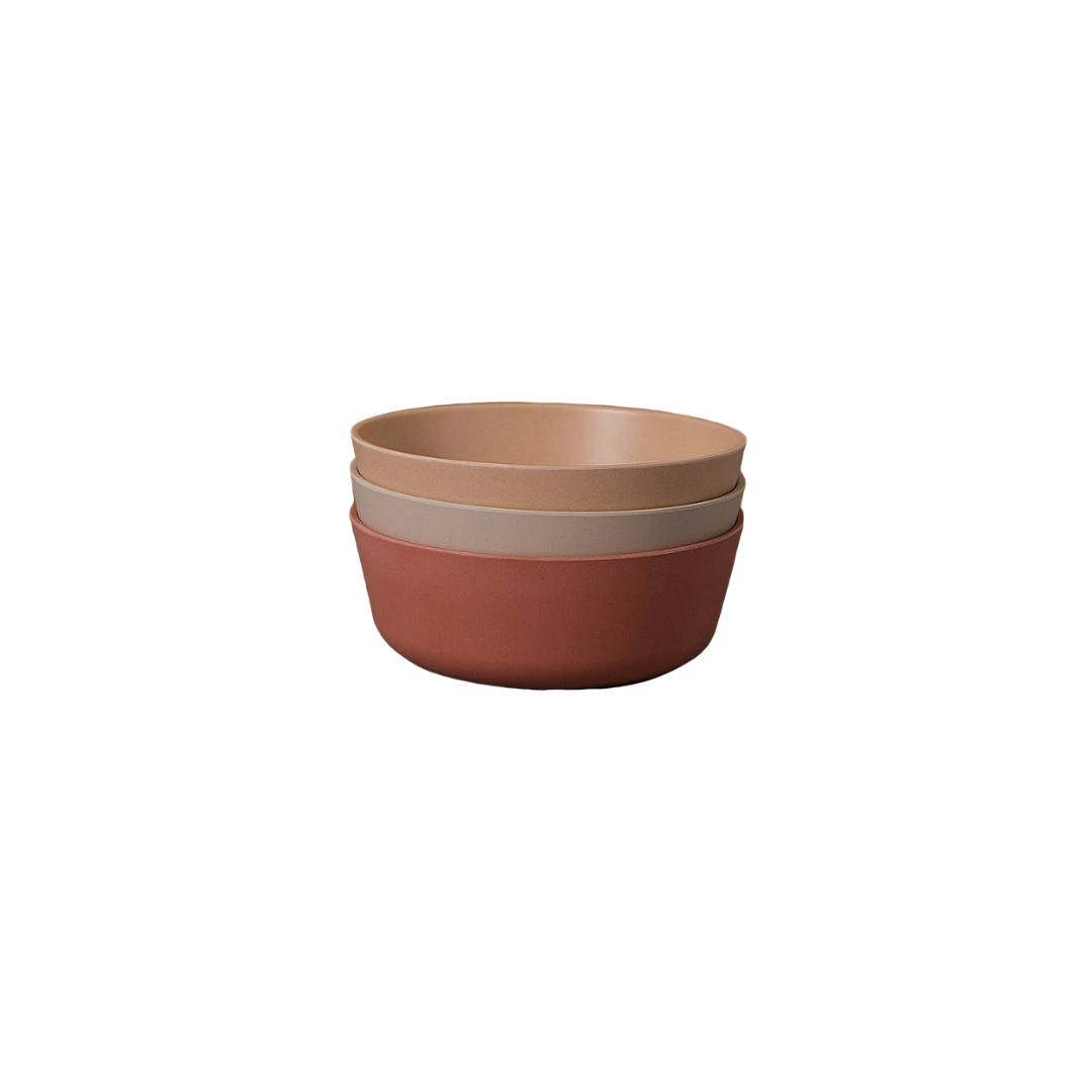 Cink Bamboo Bowls 3-pk - Brick/Rye/Fog