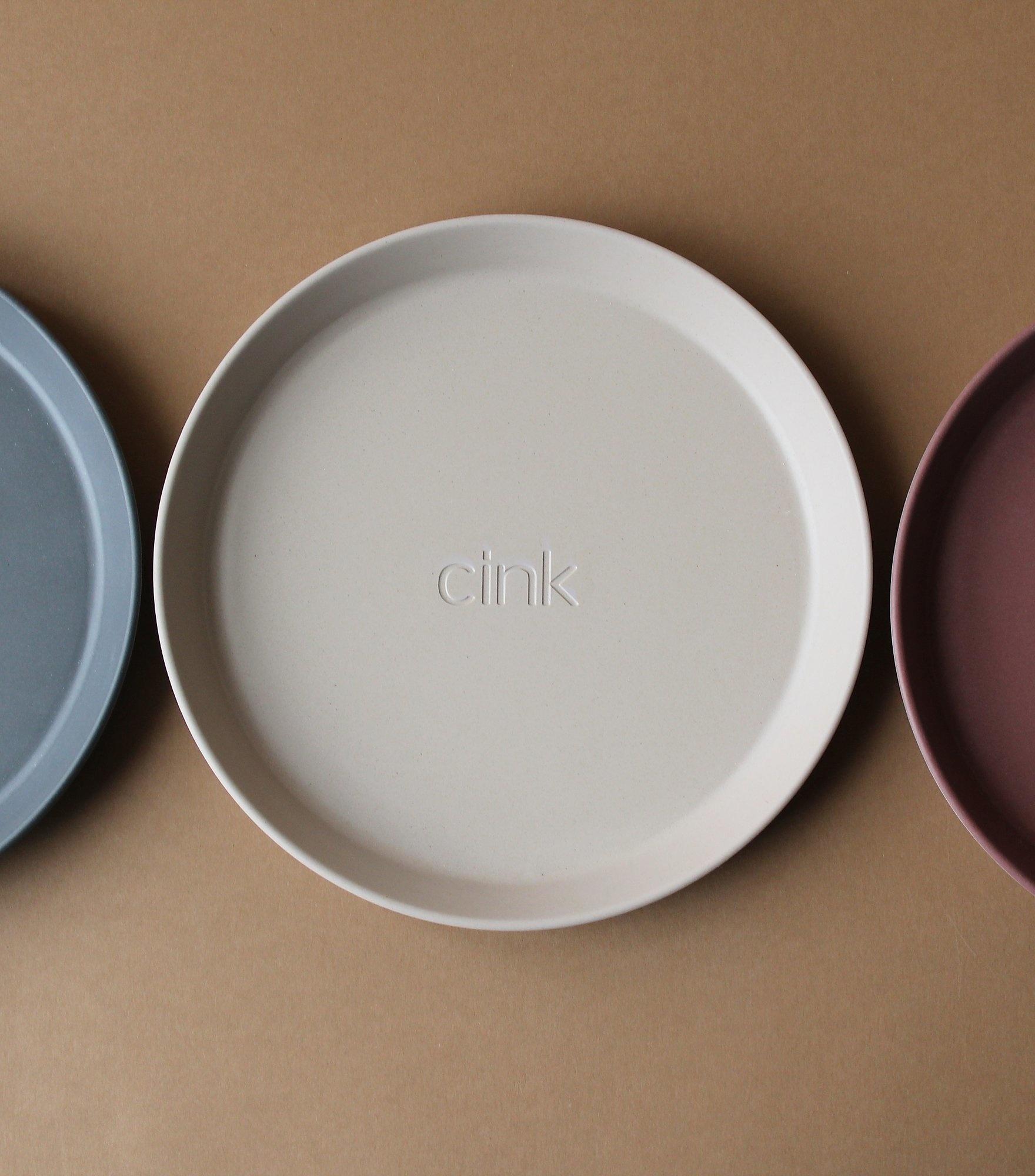 Cink Bamboo Plates 3-pk -  Ocean/Beet/Fog