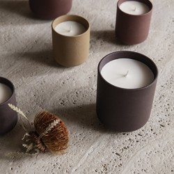 Ferm Living Sekki Scented Soy Candle Charcoal - Large