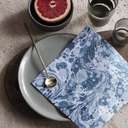 Ferm Living Marbling Paper Napkins - Dusty Blue
