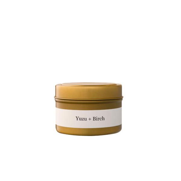 Brand + Iron Yuzu + Birch Travel Tin Candle