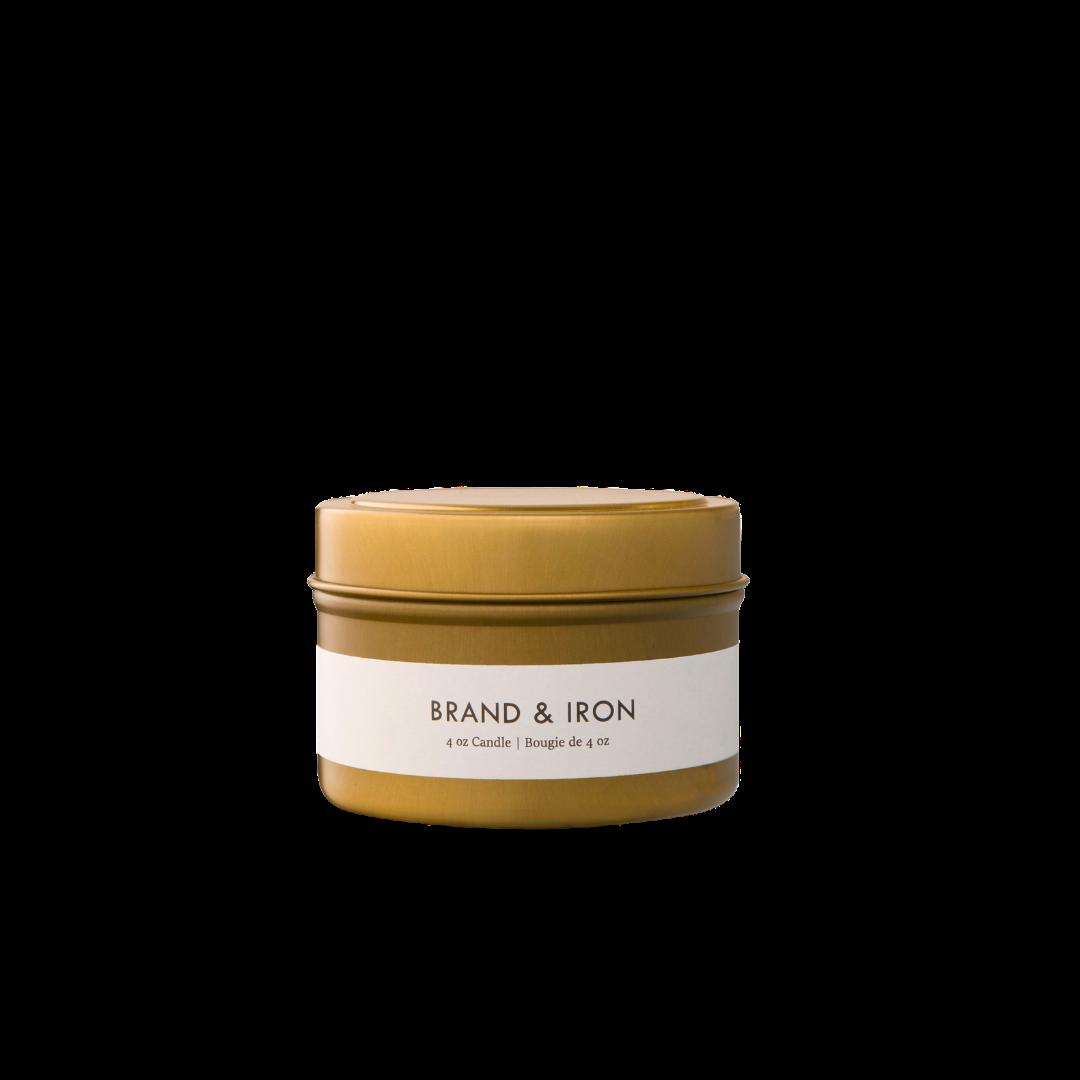 Brand + Iron Brand + Iron Tin Travel Candle Oak + Moss 4 oz