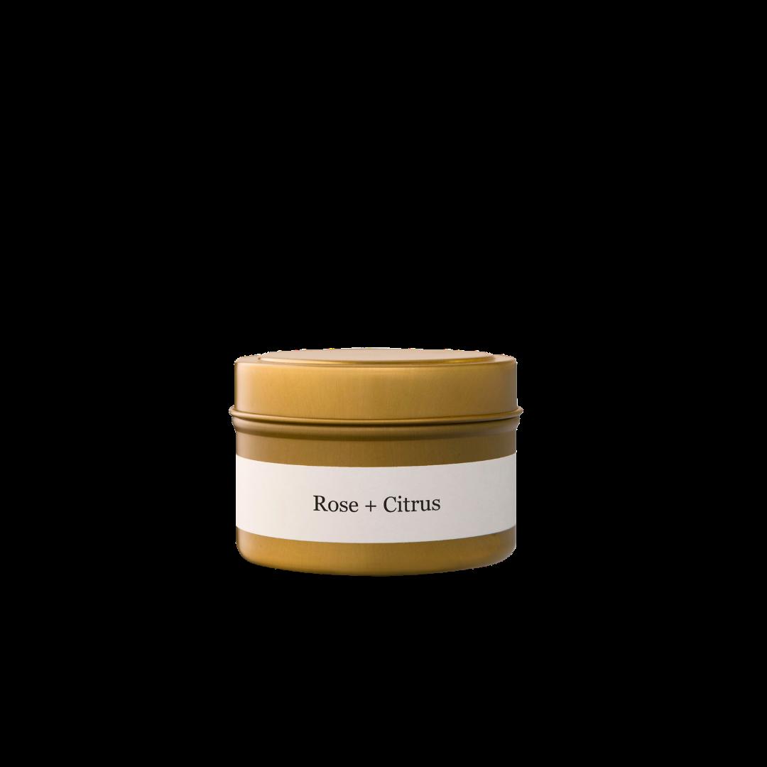 Brand + Iron Rose + Citrus Travel Tin Candle