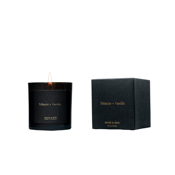 Brand + Iron Tobacco + Vanilla Soy Candle