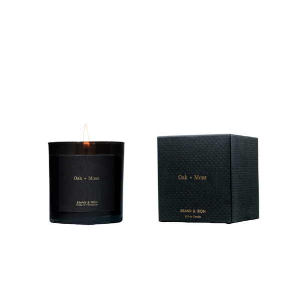 Brand + Iron Oak + Moss Soy Candle