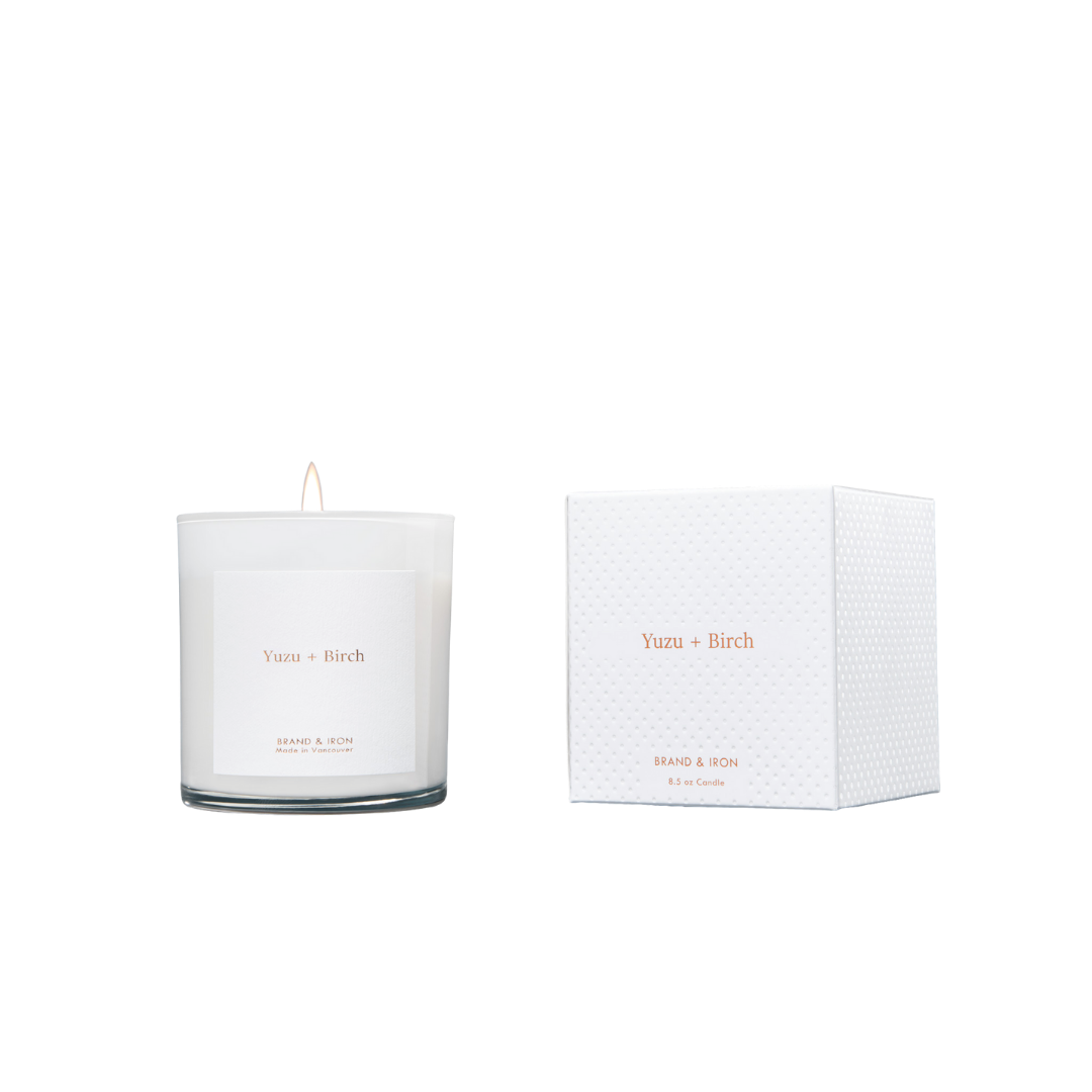 Brand + Iron White Yuzu + Birch Soy Candle