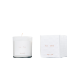 Brand + Iron White Roses + Citrus Soy Candle