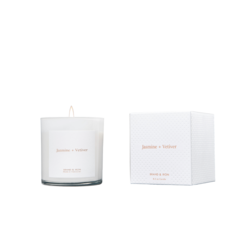 Brand + Iron White Jasmine + Vetiver Soy Candle