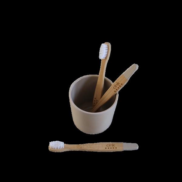 Cink Bamboo Toothbrush - Fog