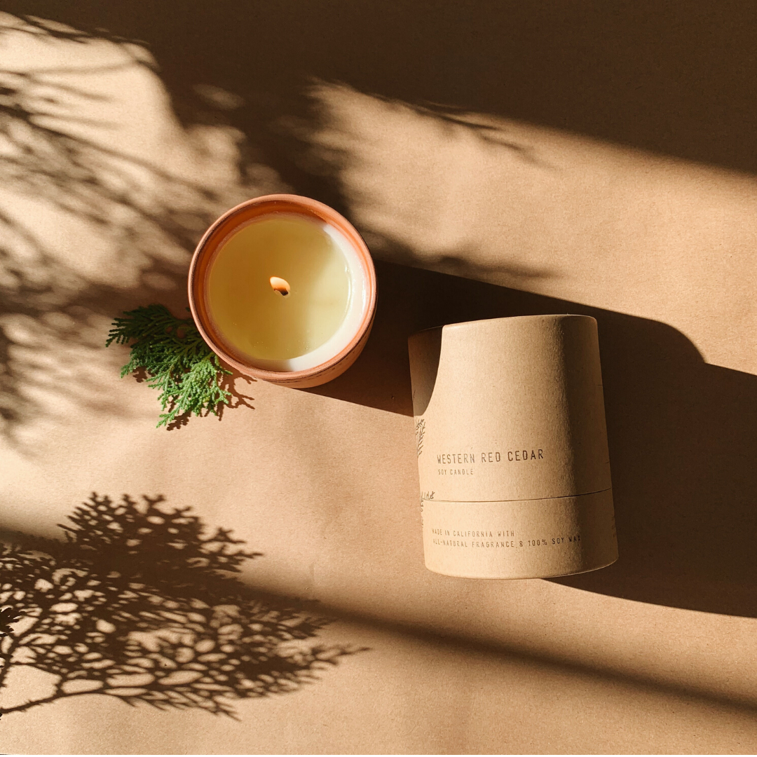 P. F. Candle Co. Western Red Cedar Terra Soy Candle