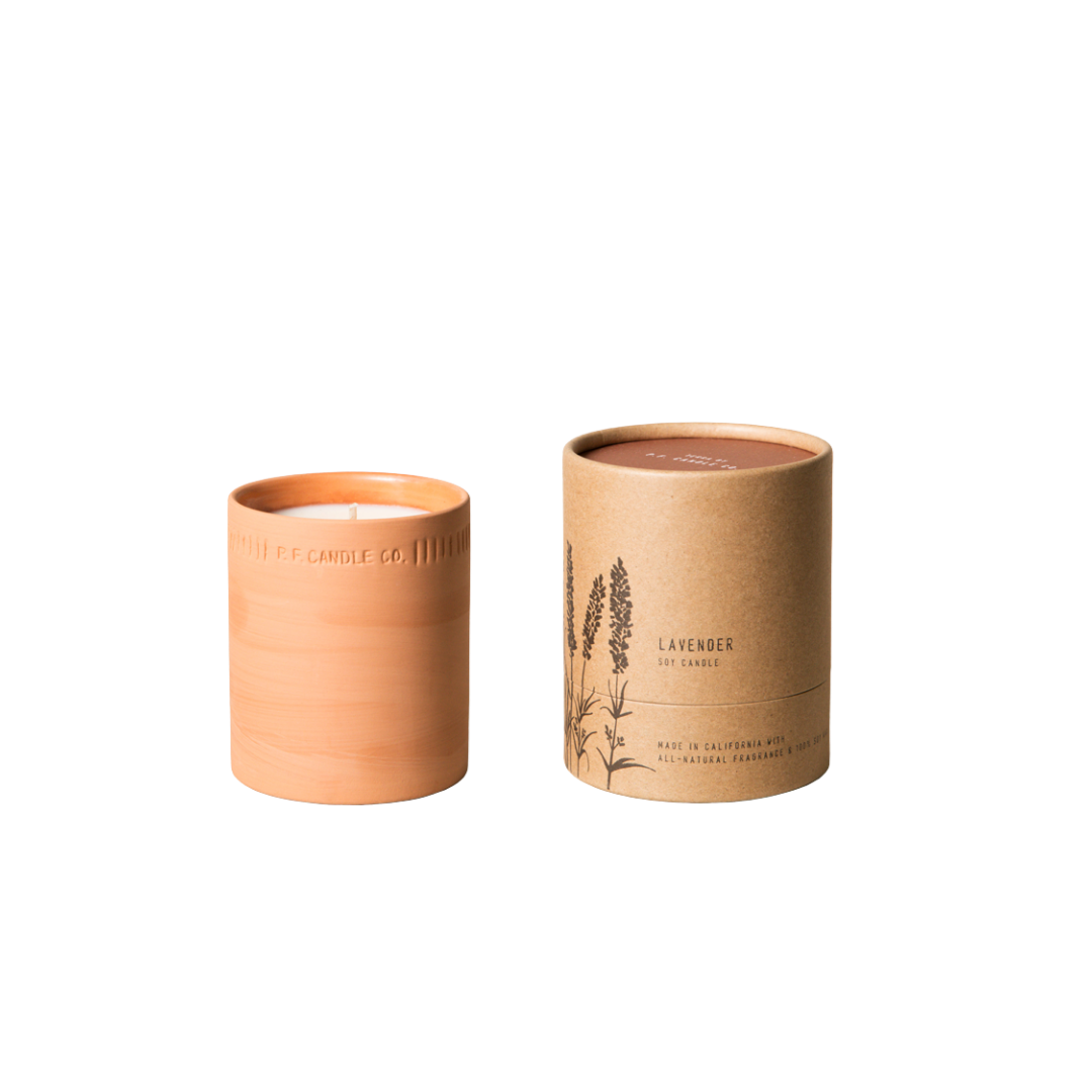 P. F. Candle Co. Lavender Terra Soy Candle