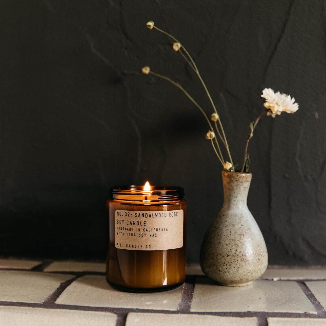 P. F. Candle Co. Sandalwood Rose Soy Candle