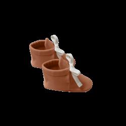 Quincy Mae Baby Booties - Rust