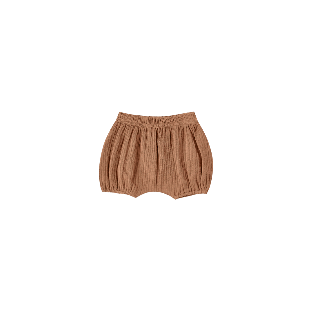 Quincy Mae  Cinched Woven Bloomer - Rust