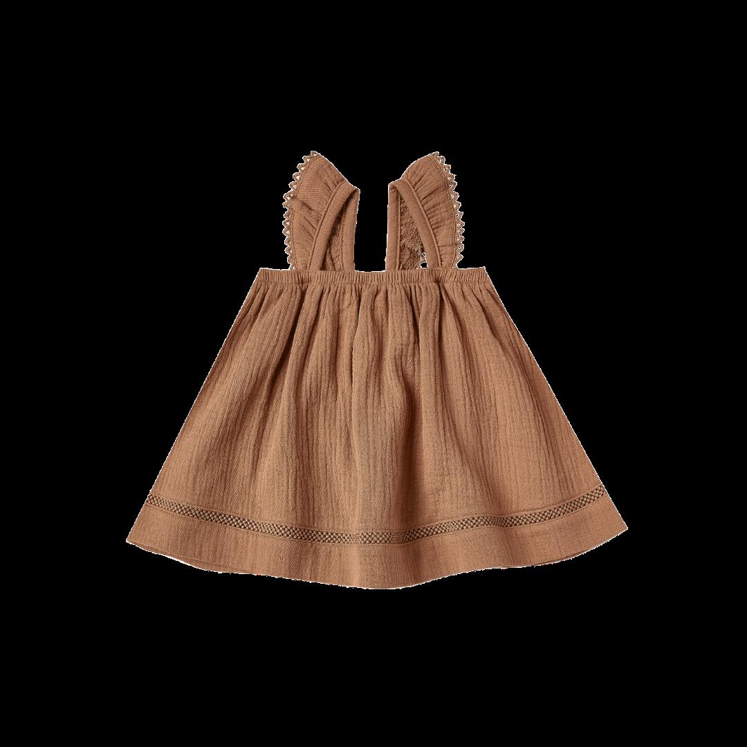 Quincy Mae Ruffled Tube Dress - Rust