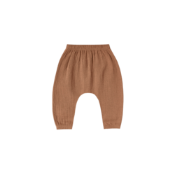 Quincy Mae Woven Harem Pant - Rust