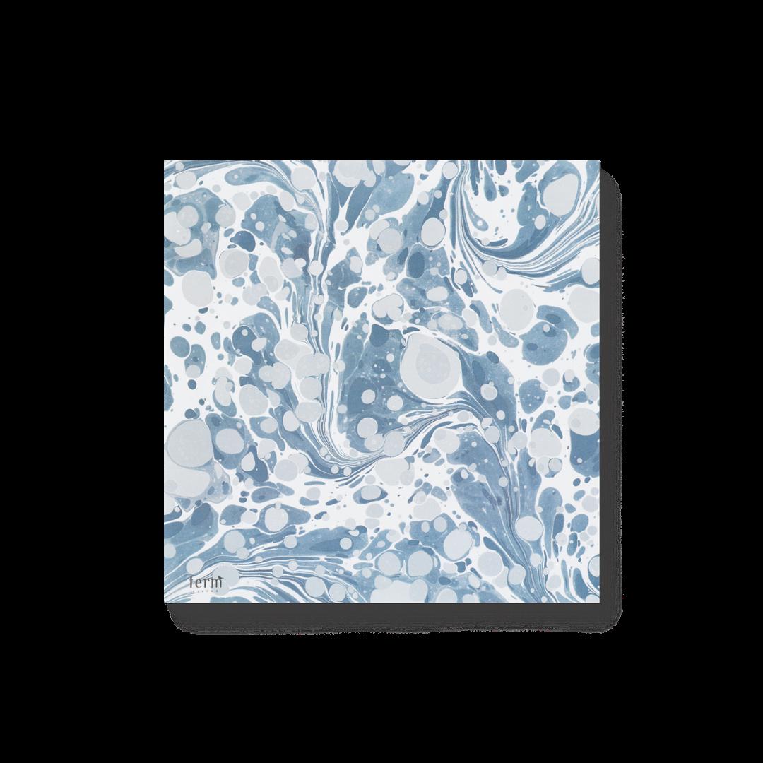 Ferm Living Marbling Paper Napkins - Dusty Blue