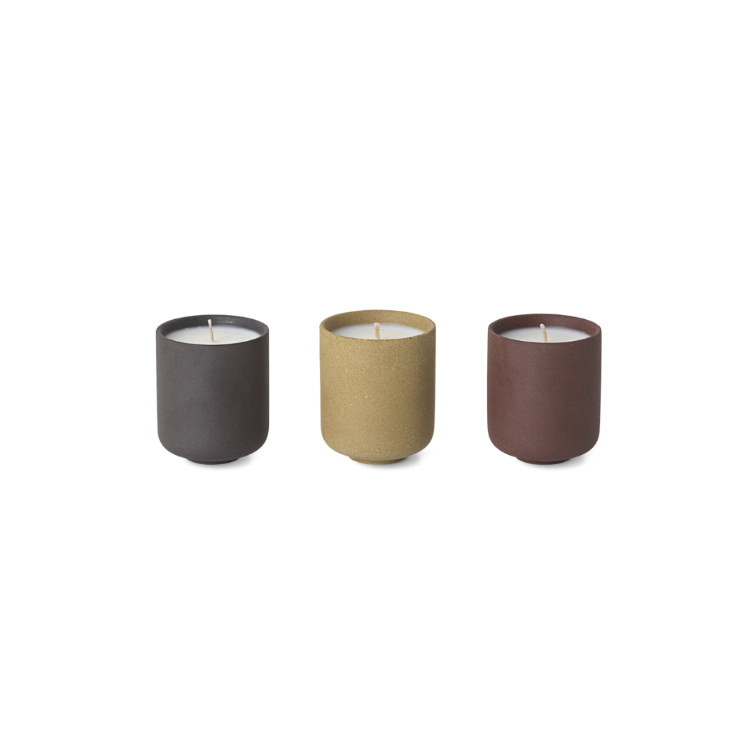 Ferm Living Sekki Scented Soy Candle - Set of 3