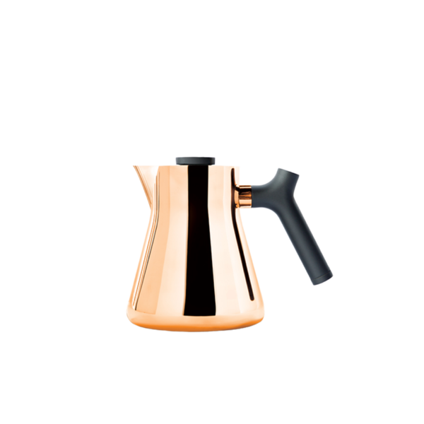 Fellow Raven Stovetop Kettle + Tea Steeper - Polished Copper
