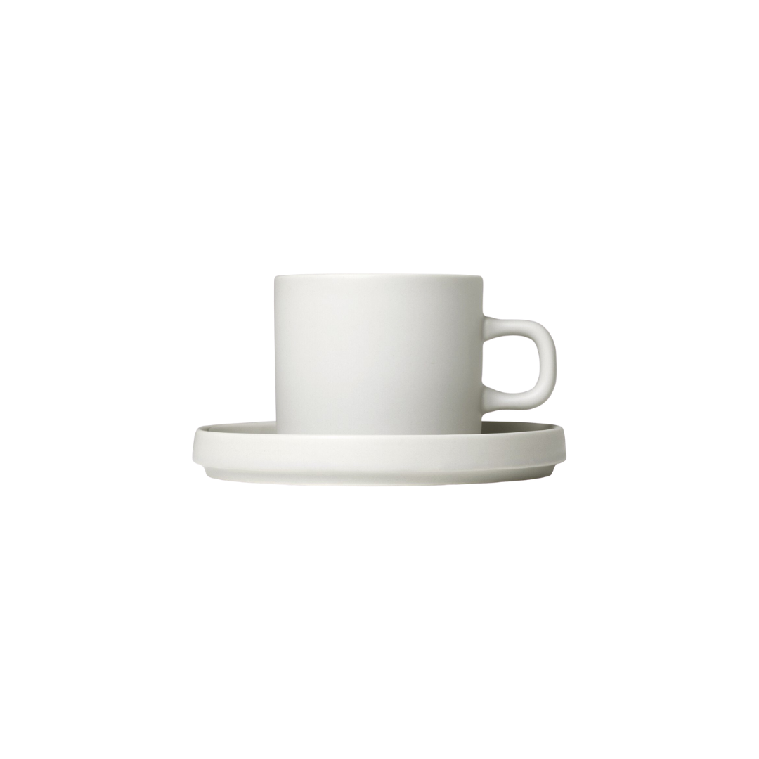Blomus  Mio Coffee Cups with Saucers - Set of 2 Moonbeam