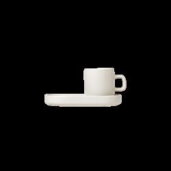 Blomus Mio Espresso Cups 2/pc w Tray Moonbeam