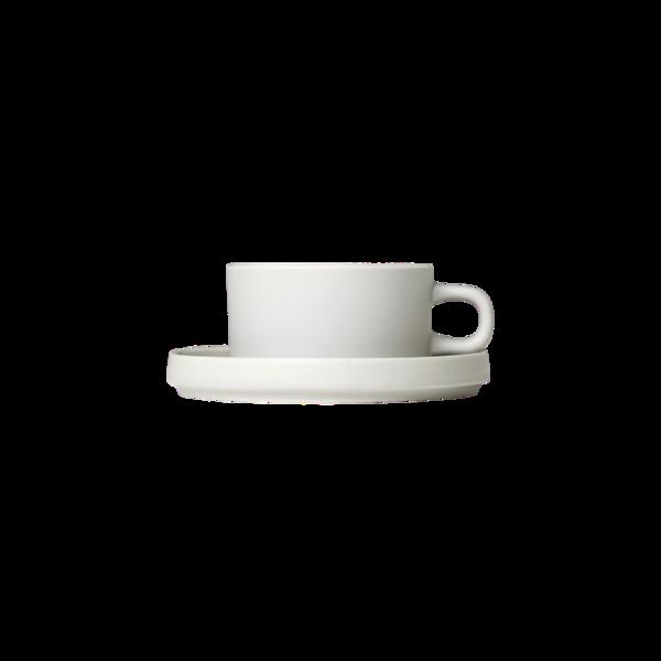 Blomus Mio Tea Cups with Saucers  Moonbeam